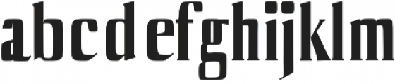 Axell otf (700) Font LOWERCASE