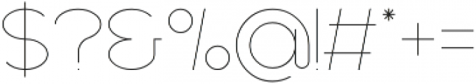 Axon Ultra Light otf (300) Font OTHER CHARS