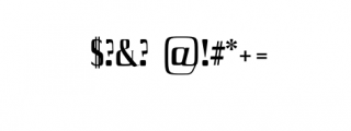 Axell-Bold.otf Font OTHER CHARS