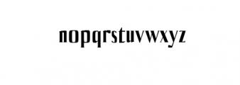 Axell-Bold.otf Font LOWERCASE
