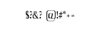 Axell-Distorted.otf Font OTHER CHARS