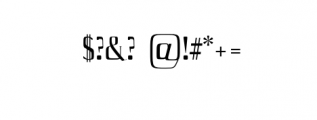 Axell-Regular.otf Font OTHER CHARS