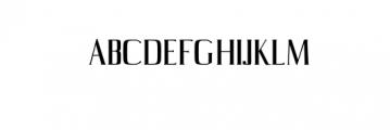 Axell-Regular.otf Font UPPERCASE