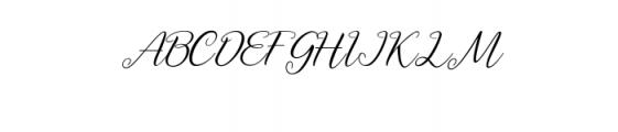 Axellaria Script Font UPPERCASE