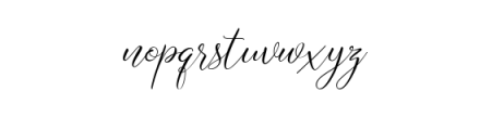 Axellaria Script Font LOWERCASE