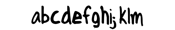 Axe Hand Font LOWERCASE