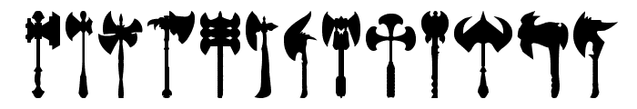 axe for warrior Font LOWERCASE