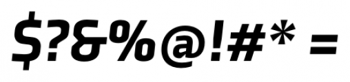 Axia Black Italic Font OTHER CHARS