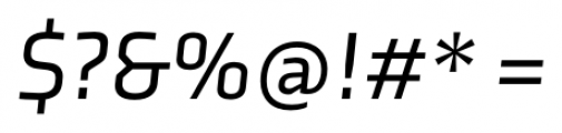 Axia Italic Font OTHER CHARS