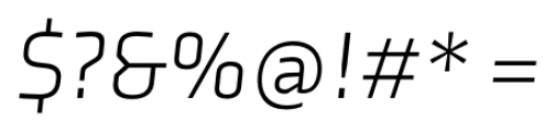 Axia Light Italic Font OTHER CHARS
