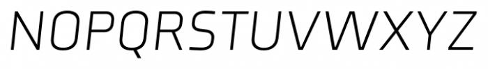 Axia Light Italic Font UPPERCASE