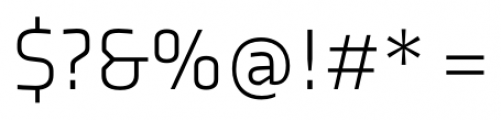 Axia Light Font OTHER CHARS