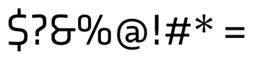 Axia Regular Font OTHER CHARS