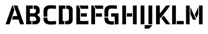 Axia Stencil Black Font UPPERCASE