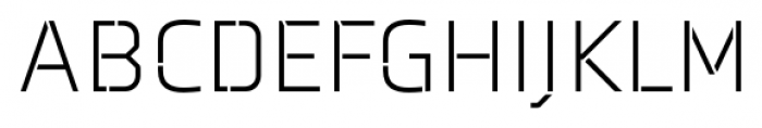 Axia Stencil Light Font UPPERCASE