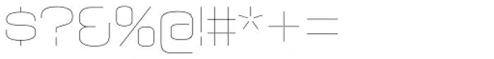 Axaxax UltraLight Font OTHER CHARS