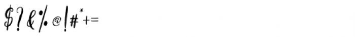 Axelentia Regular Font OTHER CHARS