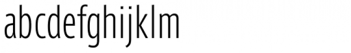 Axis Latin Compressed Pro Light Font LOWERCASE