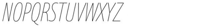 Axis Latin Compressed Pro Ultra Light It Font UPPERCASE