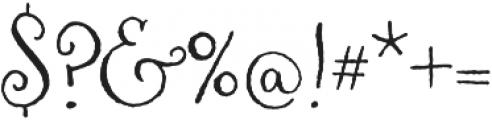Aya Script Ribbons otf (400) Font OTHER CHARS