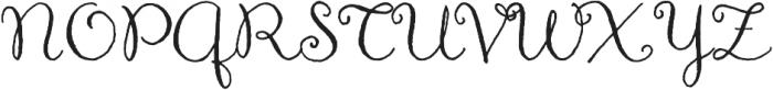 Aya Script Ribbons otf (400) Font UPPERCASE