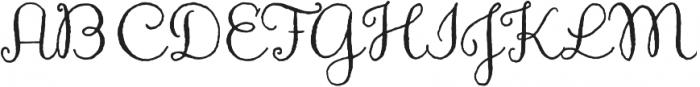 Aya Script otf (400) Font UPPERCASE