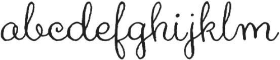 Aya Script otf (400) Font LOWERCASE
