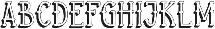 Aye Matey shadow otf (400) Font UPPERCASE