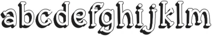 Aye Matey shadow otf (400) Font LOWERCASE