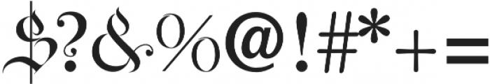 AyresRoyal otf (400) Font OTHER CHARS