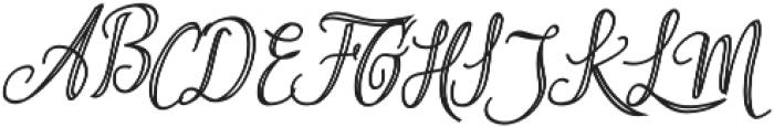 Aysheea otf (400) Font UPPERCASE