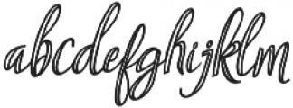 Aysheea otf (400) Font LOWERCASE