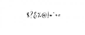 Ayalda Script Font OTHER CHARS