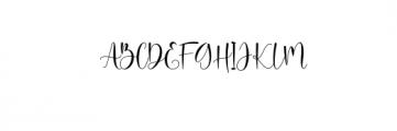 Ayalda Script Font UPPERCASE