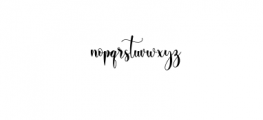 Ayalda Script Font LOWERCASE