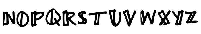 Ayme one-sided outline Regular Font UPPERCASE