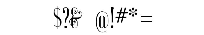 AyresRegular Font OTHER CHARS