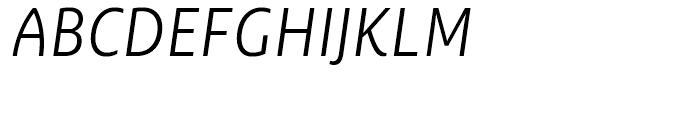 Ayita Pro Light Italic Font UPPERCASE