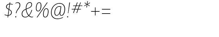 Ayita Pro Thin Italic Font OTHER CHARS