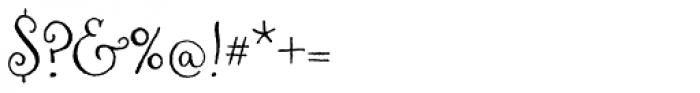 Aya Script Font OTHER CHARS