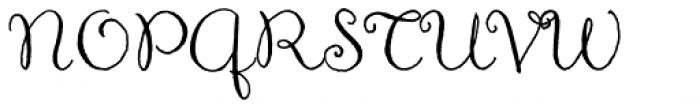 Aya Script Font UPPERCASE