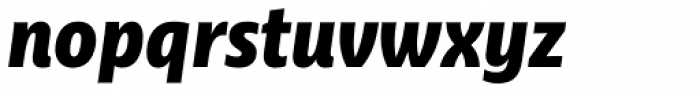 Ayita Pro Black Italic Font LOWERCASE