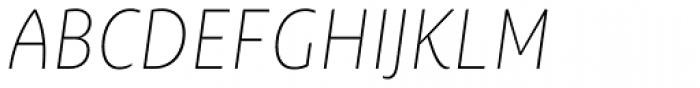 Ayita Pro Thin Italic Font UPPERCASE