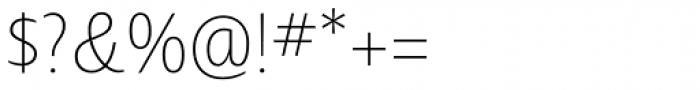 Ayita Pro Thin Font OTHER CHARS