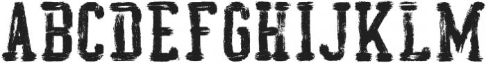 AZ College Brushed ttf (400) Font UPPERCASE