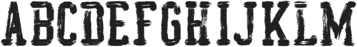 AZ College Brushed ttf (400) Font LOWERCASE