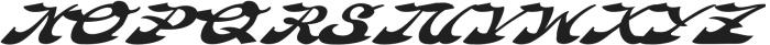 AZ Hobie Italic otf (400) Font UPPERCASE