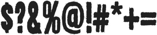 AZ New Rough Regular otf (400) Font OTHER CHARS