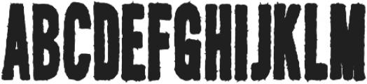 AZ New Rough Regular otf (400) Font UPPERCASE