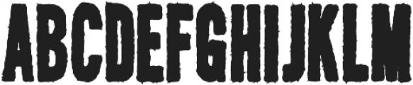 AZ New Rough Regular otf (400) Font LOWERCASE